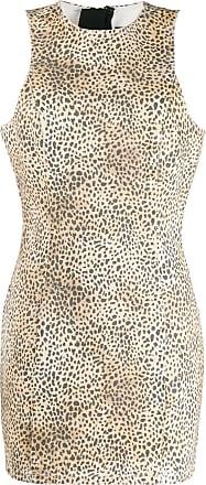 Alexander Wang cheetah print dress - Marrom