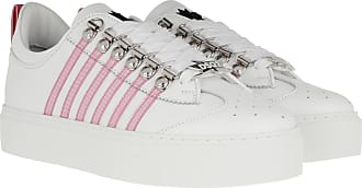 Dsquared2 Stripe Side Sneakers White Pink