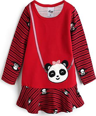 Elian Vestido Elian Panda Vermelho