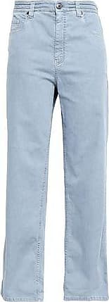 Brunello Cucinelli Brunello Cucinelli Woman High-rise Wide-leg Jeans Sky Blue Size 42