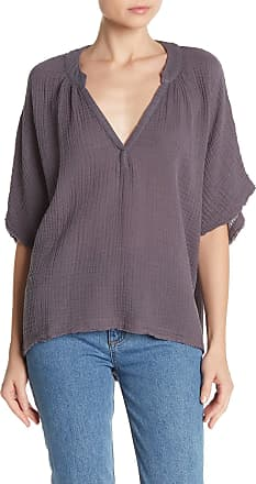 Young Fabulous & Broke Auburn Split Neck Gauze Blouse