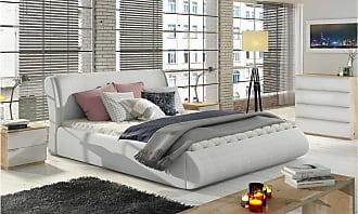 Stylefy Argia Polsterbett Weiß 180x200