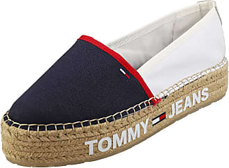 Tommy Jeans Surplus Womens Espadrille Shoes in White Navy Red - 6.5 UK