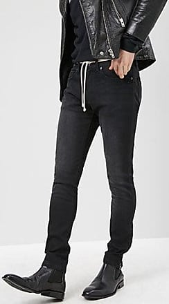 21 Men Ankle-Zip Skinny Jeans at Forever 21 Black