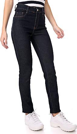 Sawary Calça Jeans Sawary Slim Lisa Azul-marinho