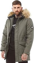 883 Police lightly padded jacket with faux fur detachable hood trim