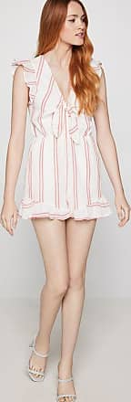 BCBGeneration Tie-Front Striped Romper