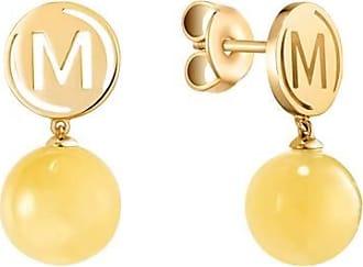 Misaki Boucles doreilles Sweet rhodiées avec perles jaunes