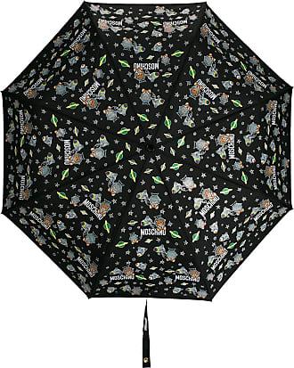 Moschino Ombrello con stampa a tema spazio - Di colore nero