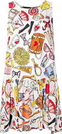 Love Moschino patterned dress - White