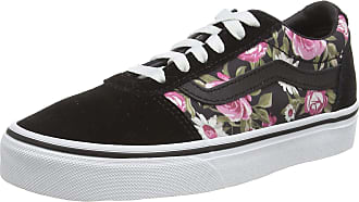 Vans Womens Ward Suede/Canvas Sneaker, Multicolour Roses Black Xnw, 7 UK 40.5 EU