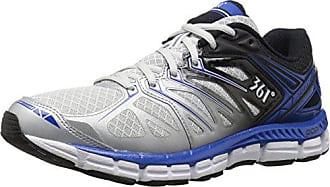 361° Mens Sensation-M Running Shoe, Gray/Black/Nautical Blue, 8 M US