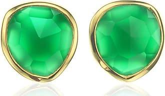 Monica Vinader Siren Stud Green Onyx earrings - GOLD
