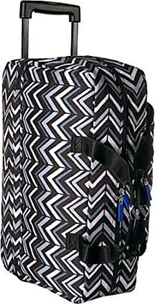 Vera Bradley Lighten Up Wheeled Carry On, Polyester, Lotus Chevron