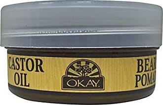 Okay | Mens Castor Oil Beard and Hair Pomade | For All Hair Types & Textures | All Day Hold | Sleek, Defined Look | Free of Silicone & Paraben | 4 oz