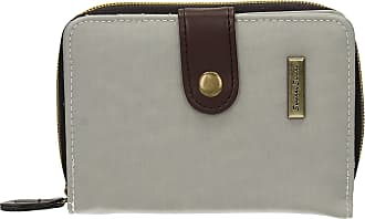 Swankyswans Womens Riley Nylon Small Flip Wallet Pale Grey