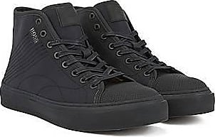 BOSS Hightop Sneakers aus Ripstop-Nylon mit Naht-Details