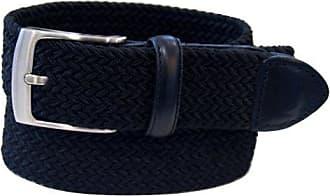 Dockers Mens 1 3/8 in. Braided Canvas Web Belt,Black,38