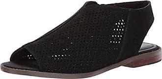 Kelsi Dagger Womens Seneca Flat Sandal, Black, 7 M US