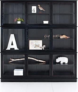 Oliver Furniture Vitrinskåp tre sektioner svart, oliver furniture