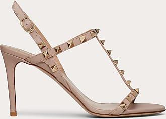 Valentino Garavani Valentino Garavani Rockstud Calfskin Sandal 85 Mm Women Poudre Calfskin 100% 37.5