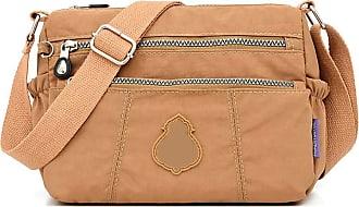 GFM Womens Nylon Waterproof Cross Body Shoulder Bag (S1-1217-HLKEK)