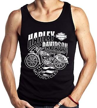 Dragon Store Camiseta Regata Moto Harley Davidson Vintage Sem Manga