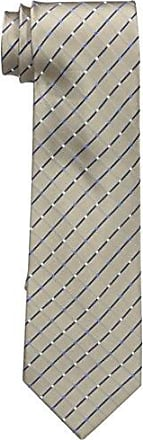 Geoffrey Beene Mens City Grid Tie, Taupe, One Size