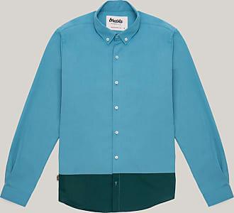 Brava Fabrics Mens Shirt - Mens Casual Shirt - Mens Shirt - 100% Cotton - Model Niagara Green Essential
