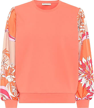 Emilio Pucci Silk-trimmed cotton sweatshirt