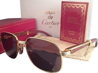 d89c31f9cf Cartier New Cartier Wood Monceau Gold   Wood 55mm Brown Lenses France  Sunglasses
