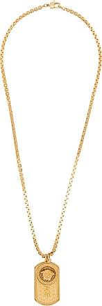 Versace Colar com pingente de tag - Dourado