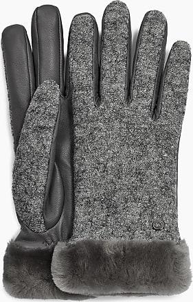 UGG Damen Stoff Leder Shorty Handschuh - Small / Medium