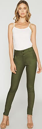 Alloy Apparel Tall Booty Lift Skinny Twill Plus Size Pants for Women Olive 15/35