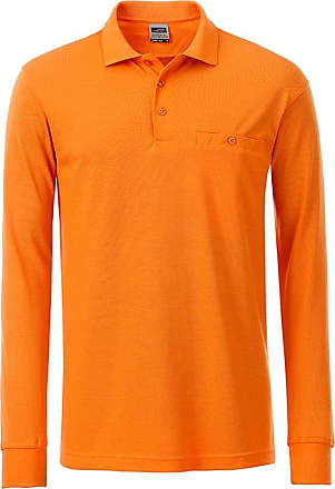 2Store24 Mens Workwear Polo Pocket Longsleeve in Orange Size: L
