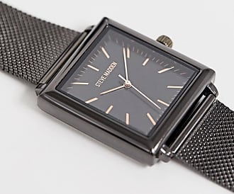 Steve Madden mens mesh watch in black - Black