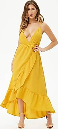 Forever 21 Forever 21 Ruffle-Trim High-Low Dress Yellow