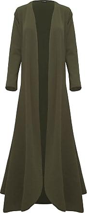 Be Jealous Women Ladies Floaty Flowy Cardi Open Flare Long Trench Jacket Coat Maxi Cardigan