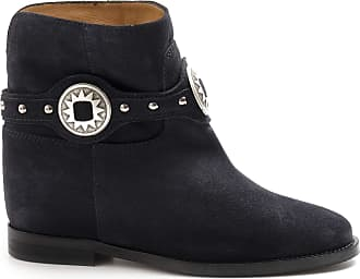 Via Roma 15 Blue suede ankle boots with Wedge - 3300 Velour Blue - Size Blue Size: 6 UK