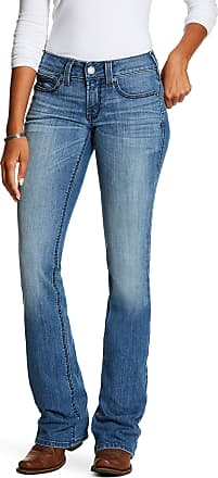 Ariat Womens R.E.A.L. Mid Rise Stretch Shawna Boot Cut Jeans in Odessa Cotton, Size 28 X-Long, by Ariat