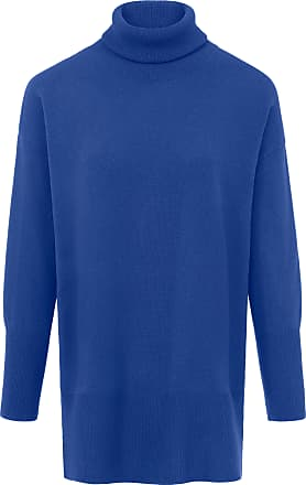 include Roll-neck jumper in wool and cashmere include blue