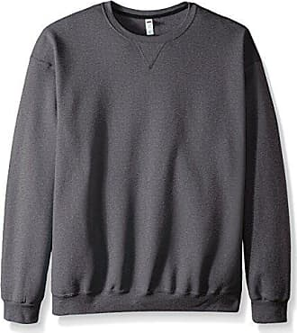 Fruit Of The Loom Mens Fleece Crew Sweatshirt, Charcoal Heather, XX-Large