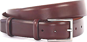 Santoni Men´s belt leather red brown