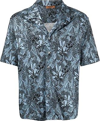 Missoni Camisa mangas curtas com estampa abstrata - Azul