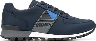 Prada Tênis com logo - Azul