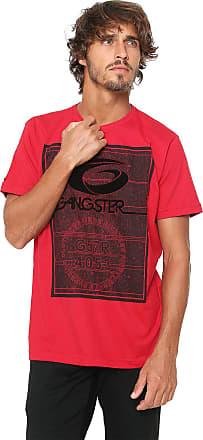 Gangster Camiseta Gangster Estampada Vermelha