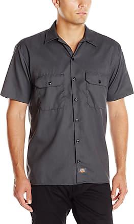 Dickies Mens Short-Sleeve Flex Twill Work Shirt - Gray - Large