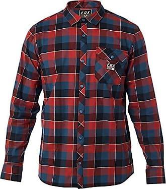 Fox Mens Rowan Stretch Flannel, Navy/red, L