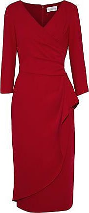 Mikael Aghal Mikael Aghal Woman Wrap-effect Crepe Midi Dress Red Size 0