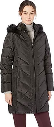Larry Levine Womens Mid-Length Down Coat with Hood